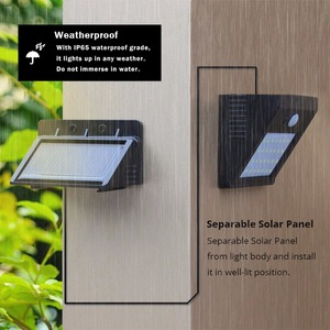 Image 3 - LED Solar Night light Outdoor PIR Motion Sensor Solar Power LED Wall lamp Separable For Yard Garden Door Path Security lighting