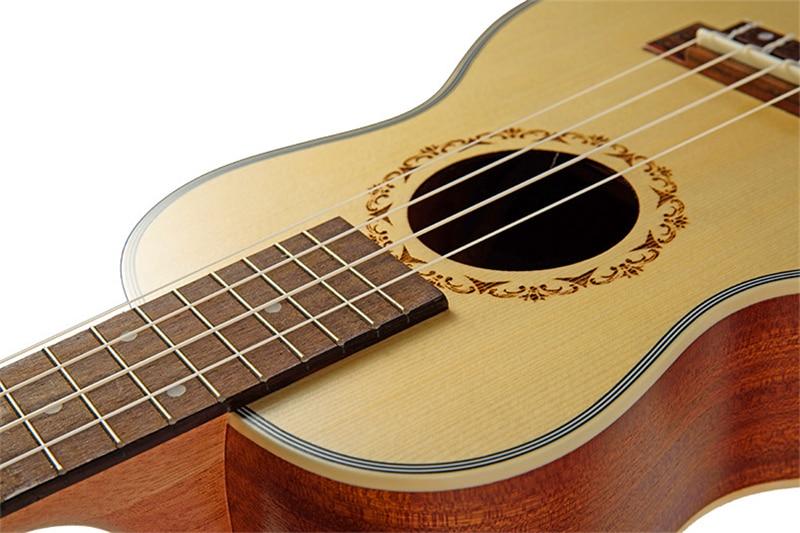 23 pouces ukulélé Concert Hawaii 4 cordes mini guitare acoustique électrique Ukelele Cavaquinho guitare instrument de musique avec ramassage EQ - 3