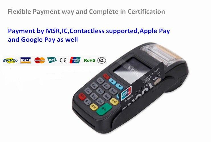 Système de paiement d'origine, Terminal de point de vente GPRS, Terminal de paiement sans fil avec lecteur NFC NEW8210