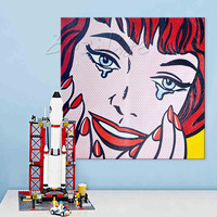 Lichtenstein Pop Art Cartoon Oil painting on canvas Hand painted Wall Art Picture for living Room Andy Warhol home decor 1
