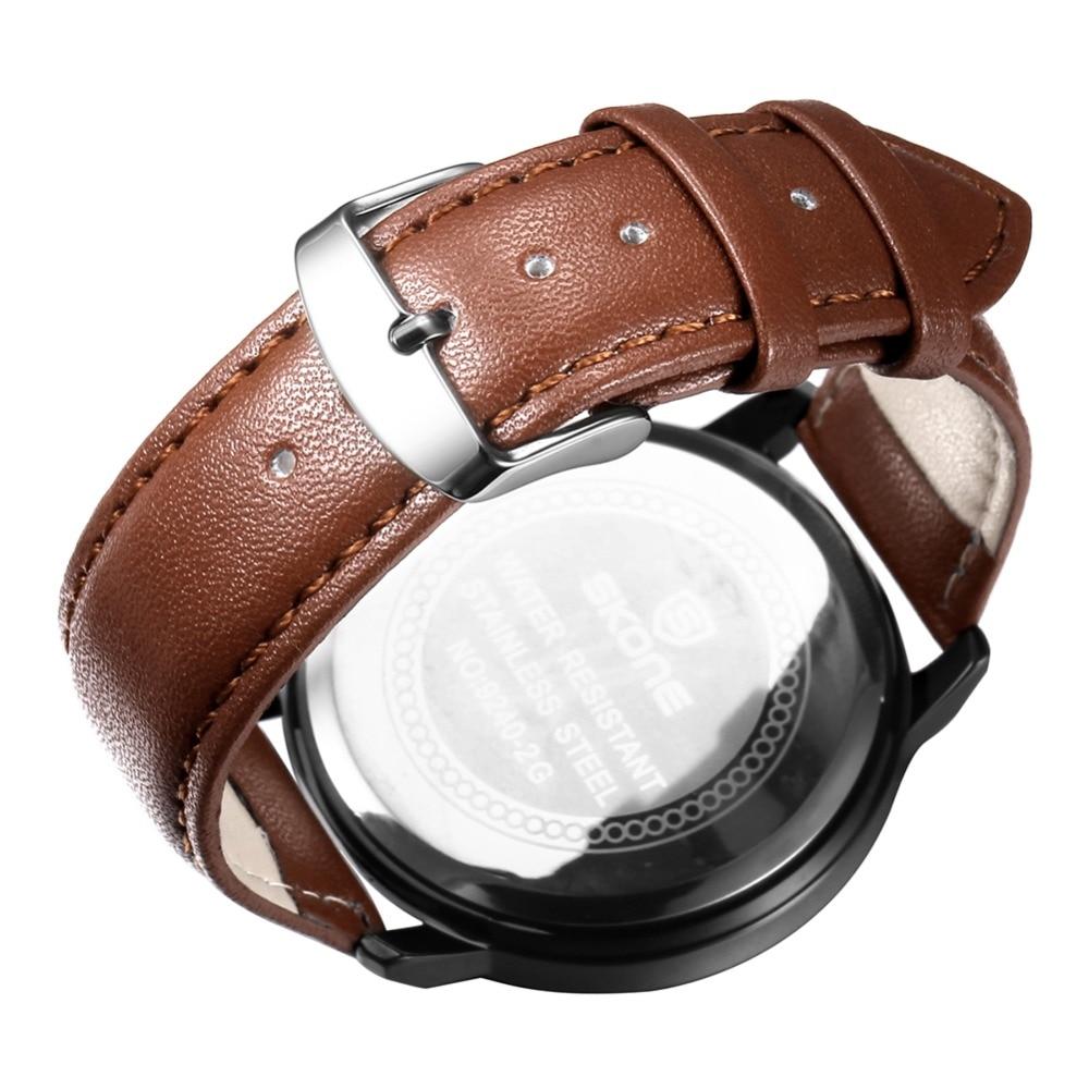 SKONE relojes hombres marca de lujo hombres reloj relogio relojes de - Relojes para hombres - foto 3