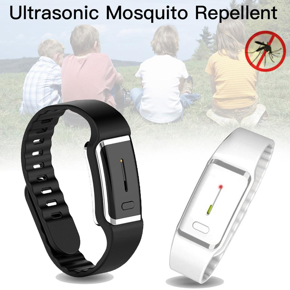 Pokich Ultrasound Mosquito Repellent Bracelet Electronic Bionic Wave Charging Anti mosquito Pest Control Wristband for Kid Adult Repellents    - AliExpress