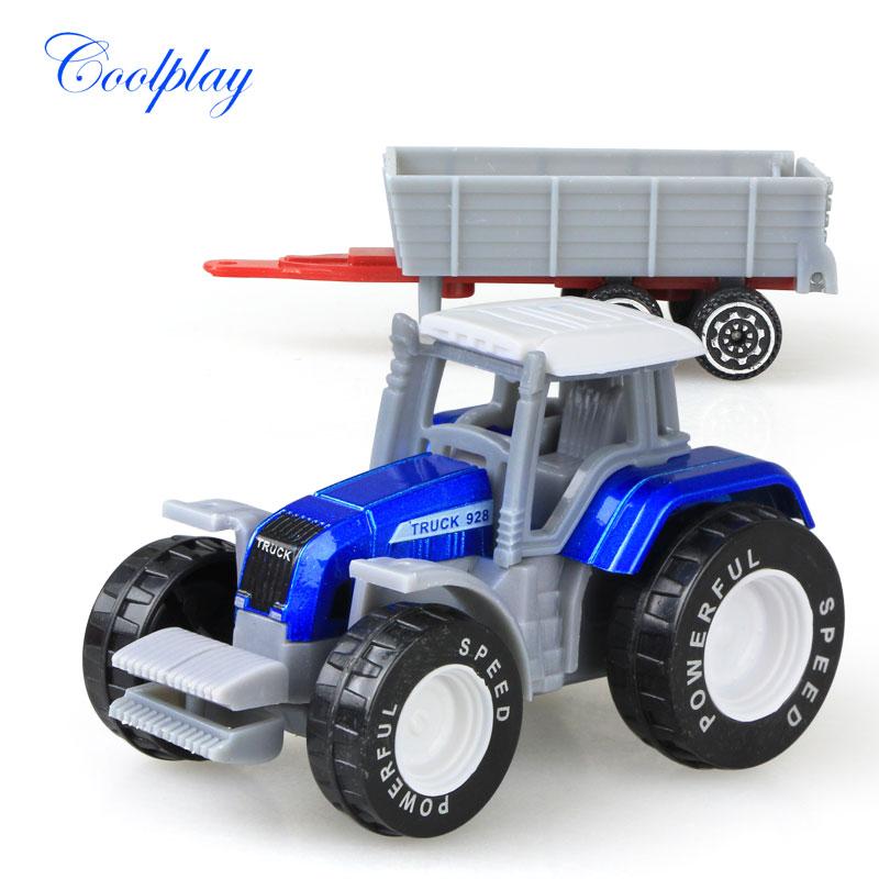 Die-cast Farm Vehicles Mini Car Model Engineering Car Model Tractor Engineering Car Tractor Toys Model for Kids Xmas Gift 6