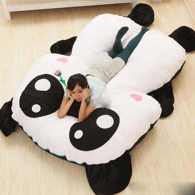 Panda Bean Bag Chair Toddler Bed 210cm X 150cm Cartoon Beanbag Soft Giant Stuffed Carpet Sofa Tatami Mattress Nice Gift
