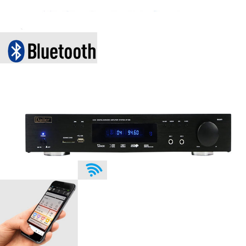 цена на AP-380 5.1 Home Amplifier Dolby AC-3 Decoding Fiber Coaxial Radio Built-in Bluetooth Amplifier USB Lossless Music