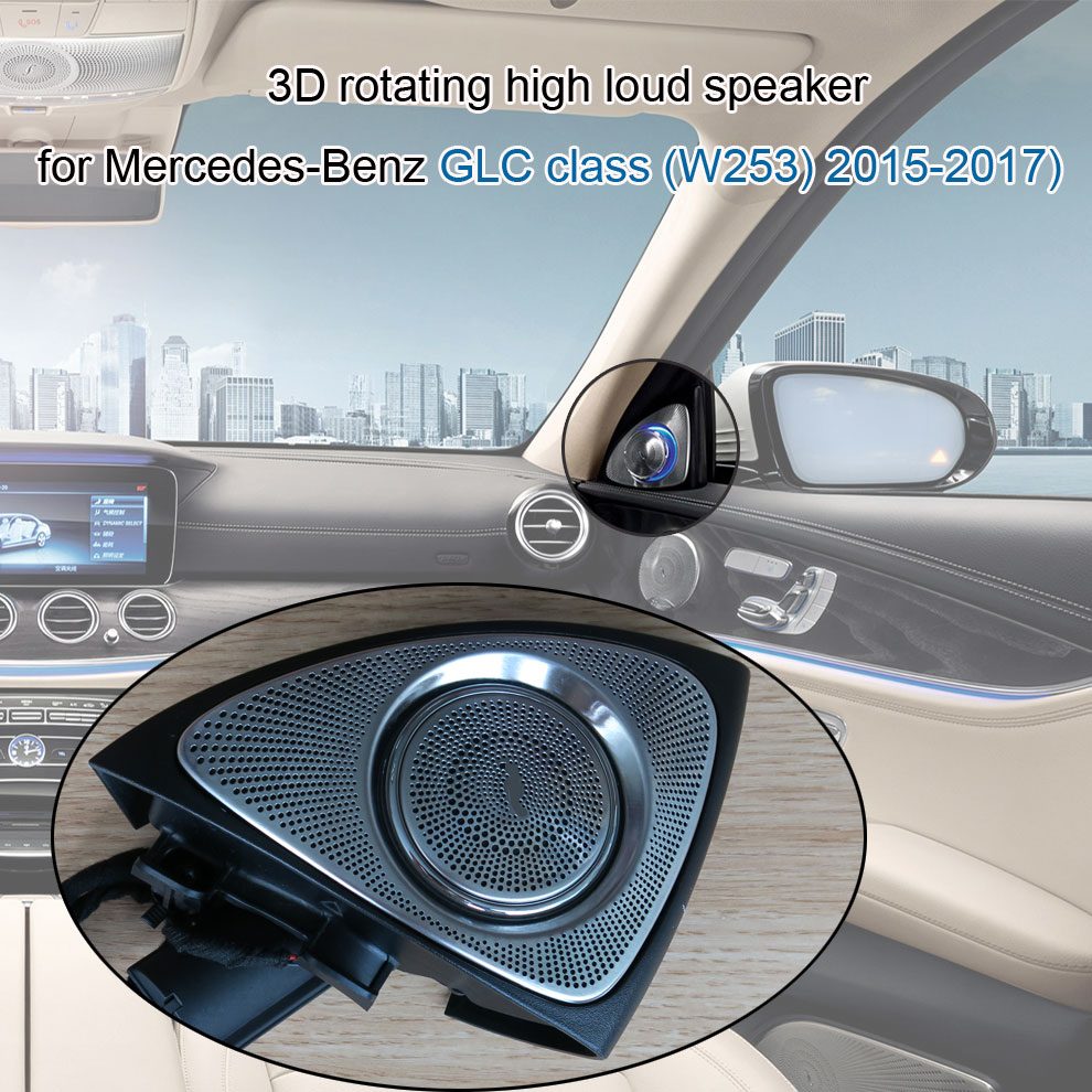 Car styling Door Speaker Design Interior Mouldings Decoration 3D rotating high loud speaker for Mercedes Benz GLC class W253 in Tweeters from Automobiles Motorcycles