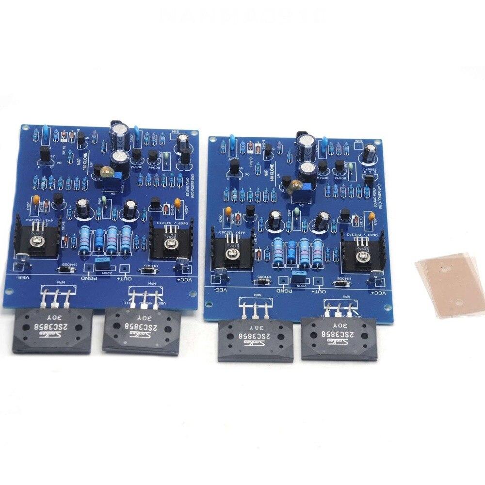 Une paire NAIM NAP140 CLONE assemblé double carte amplificateur 80 W 8R 2SC3858 AMP par LJM - 3