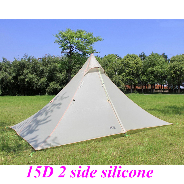 ASTA 2016 high quality 2 side silicone pyramid fly of outdoor camping tent 265*170*135cm