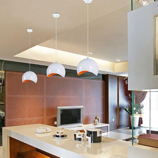 Classic lamps pendant lights aluminum DIA 20cm apple lamp restaurant bar coffee dining room LED hanging light fixture 110V 220V