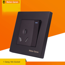 цена на 16A Wall Power Socket Plug Grounded Socket Power Outlet Panel AC 110~250V Electric Socket Outlet for Air-conditioning Standard