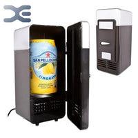 Usb 미니 데스크톱 냉장고 쿨러 개인 냉장고 휴대용 냉장고 (블랙) usb 미니 데스크탑 무료 배송