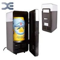 Usb Mini Fridge Cooler de geladeira portátil geladeira ( preto ) Usb Mini frete grátis