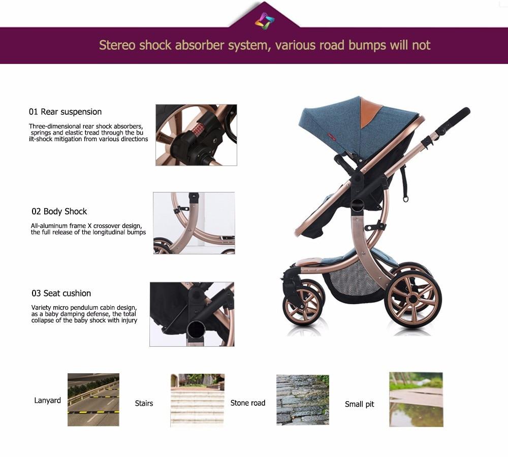 Beleeco estoque presente carrinhos de bebê leve
