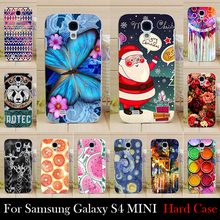 For Samsung Galaxy S4 mini I9190 Case Hard Plastic Mobile Phone Cover Case DIY Color Paitn Cellphone Bag Shell  Shipping Free