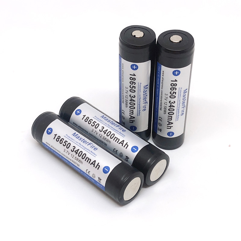 6pcs lot MasterFire New Protected Original 18650 3400mah 3 7V Rechargeable Lithium Battery Batteries with PCB Made in Japan in Rechargeable Batteries from Consumer Electronics