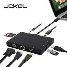 USB C 3.1 Type C HUB to HDMI VGA RJ45 Gigabit Ethernet Switc
