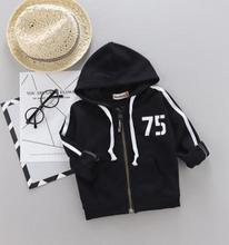 Купить с кэшбэком  Hooded Children Sportswear 2019 Spring Autumn Digital Print Kids Jacket Baby infant Girls Boys Clothes for 1-4 Y SY-F183002