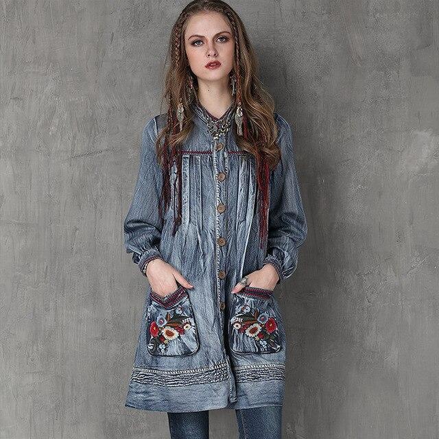 Rétro Longues Sac Robe 2019 Lâche Cardigan Pour Daning Mode À Montant Taille Kelly Manches Poche Nouveau Femmes Broderie Col Dames gqdv5wvZ