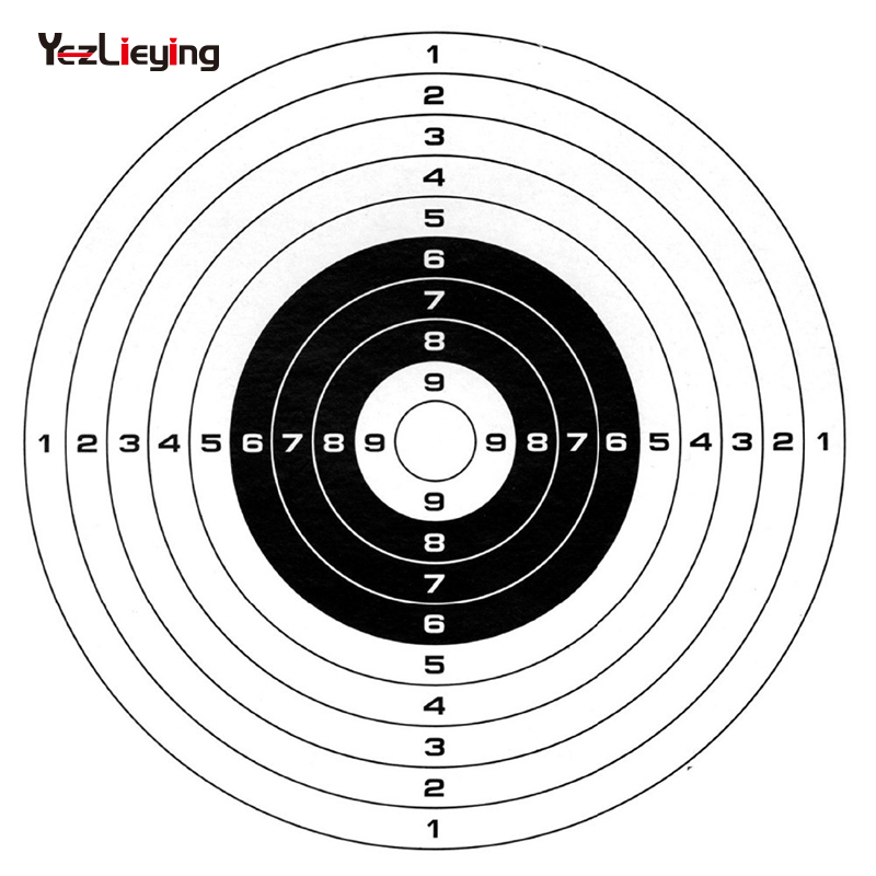 Used for paintball, airsoft lead, slingshot steel BBs, airsoft plastic BBs Target packs 20 per pack 5.5 x 5.5 (14 x 14 cm )