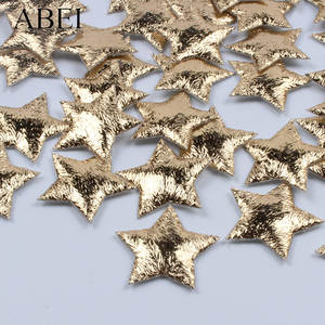 Scrapbook-Cards-Ornaments Fabric-Stars Foam Wedding-Party-Decoration Christmas Gold 100pcs
