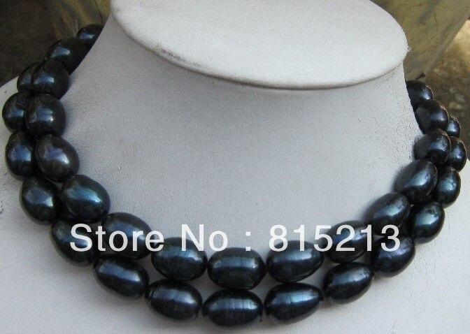 Ddh001253 surprenant AAA tahiti 14mm noir baroque collier de perles 34 14KGP Or 28% Discount