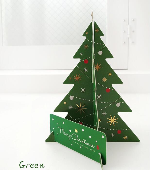Papier Handgemaakte 3d Kerstboom Rood En Groen Twee Kleuren Kiezen