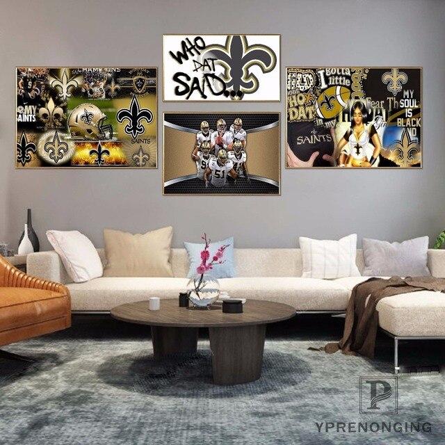Custom New Orleans Saints Poster Art Home Decor Canvas Printing Silk Fabric Print Wall No