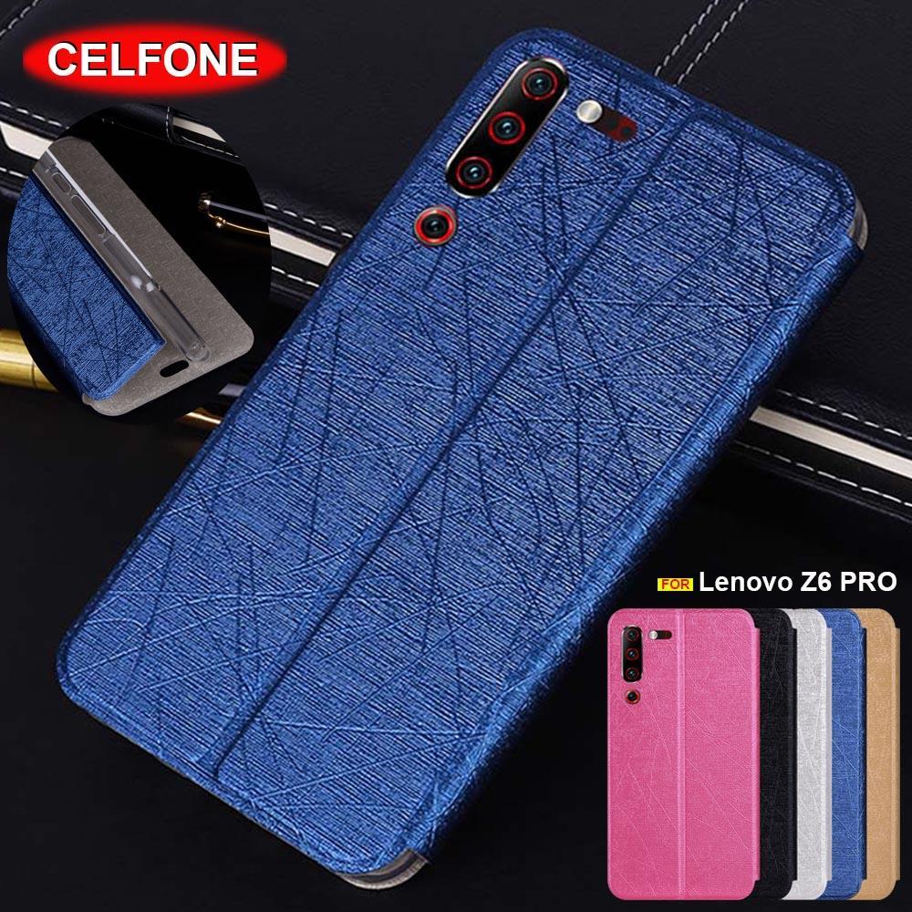 Global Version Lenovo Z6 Pro cover phone case Slim flip cover leather stand case for Lenovo Z6 Lite case Z6 lite L38111 cover