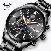Ailang Pilot Men Mechanical Watch Waterproof Black