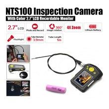 Диаметр 3.9 мм 2.7 «LCD NTS100 Эндоскопа Бороскоп Змея Инспекции 1 М Труба Камера DVR