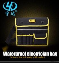 Купить с кэшбэком Tool Belt Electrician Tool Bag Shoulder Oxford Cloth Waterproof Hardware Kit Electrician Bag Tool Bag Woodworking Tool Bag