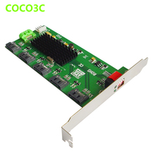 1:5 SATA 2.0 Port Multiplier adapter SATA 3Gb/s Hard Disk Clone riser card Easy Dip Switch RAID 0 1 3 5 10 LARGE JMB393