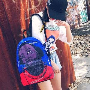 Image 5 - Menghuo Newest Women Backpacks 3D Printing Backpack Female Trendy Designer School Bags Teenagers Girls Men Travel Bag Mochilas