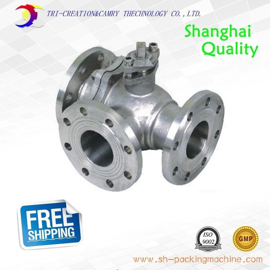 1 DN25 manual stainless steel flange ball valve,3 way 304 PN16 T-port  flange valve ethylene propylene soft seal butterfly valve pn 1 6 dn65 manual flange valve