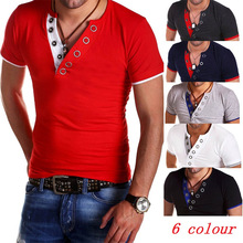 ZOGAA 2019 new summer t shirt men streetwear Casual fashion short-sleeved solid color V-neck T-shirt 5 colors Size plus S-XXXL цена 2017