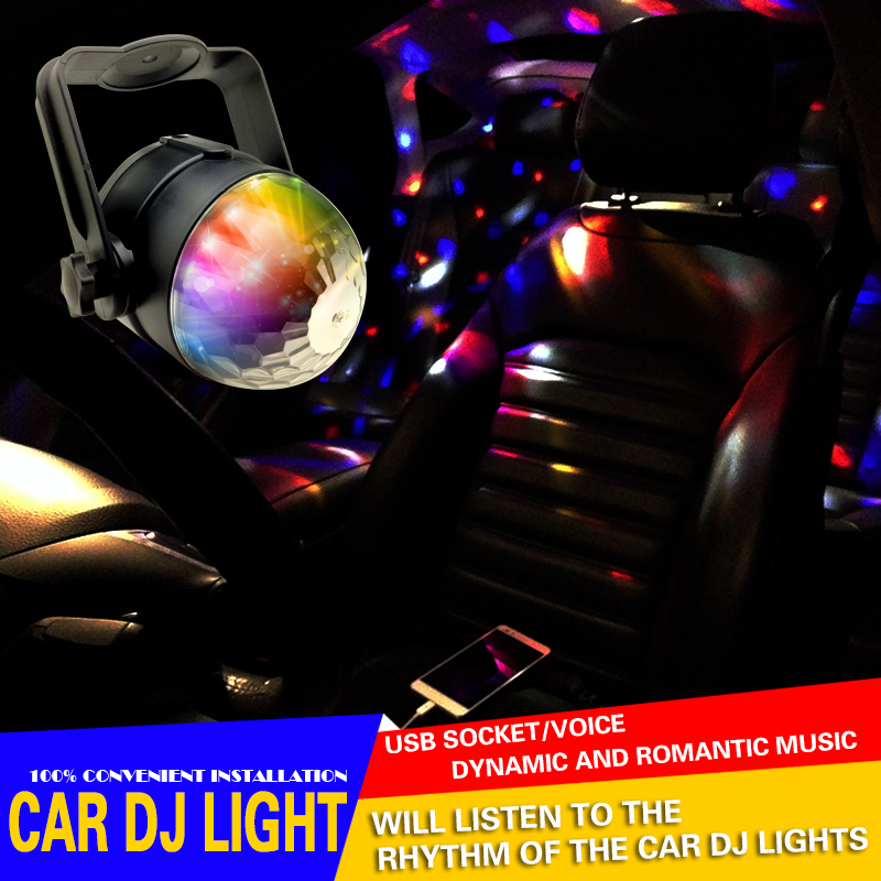 iTimo Car Styling Accessories Music Rhythm DJ Audio Decorative Lights Car KTV Colorful Dynamic Atmosphere Projection Lamp