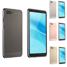For Huawei Nova 2S Case for 2 S Brushed Back Cover Hard with Plating Metal Frame Nova2S 6.0