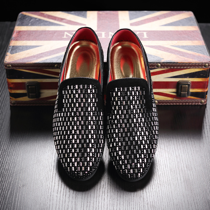 2018 New Fashion Tenis Casual Nahk Loafers Meeste Bean Fine Diamond - Meeste jalatsid - Foto 5