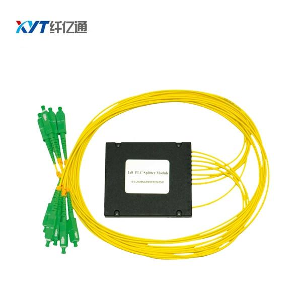 FTTH GEPON SC APC UPC Connector 1X8 ABS 2.0mm fiber length 1.5m Fiber Optical PLC Splitter Free shipping