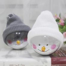 Christmas Decorations Creative Snowman Children Toys Plastic Balls Pendant Gifts