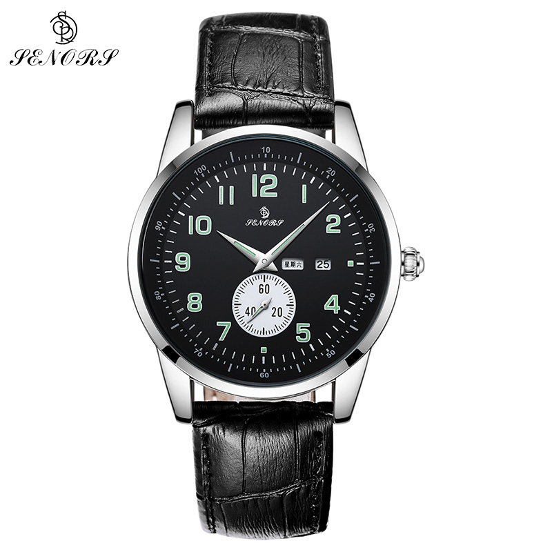 SENORS Men's Watches Top Brand Luxury Military Sport Luminous Watch Fashion Quartz Wirstatch Male Clock Man Relogio Masculino xinge top brand luxury leather strap military watches male sport clock business 2017 quartz men fashion wrist watches xg1080