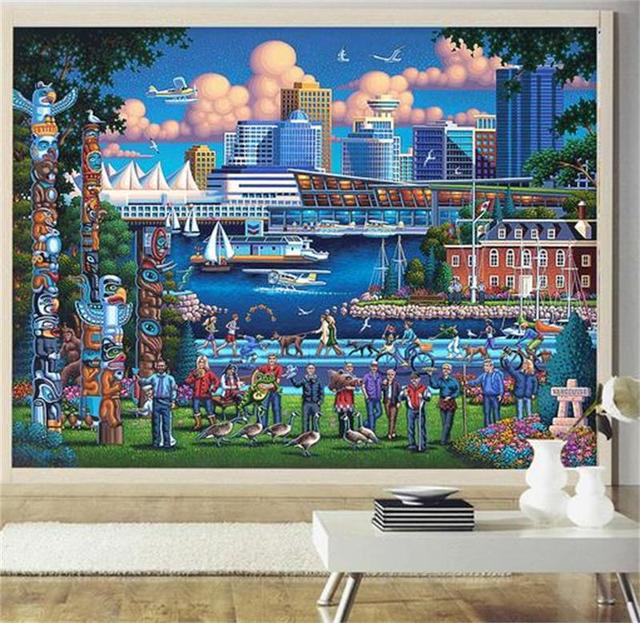 3d photo wallpaper custom room mural non woven wall sticker south africa city oil painting