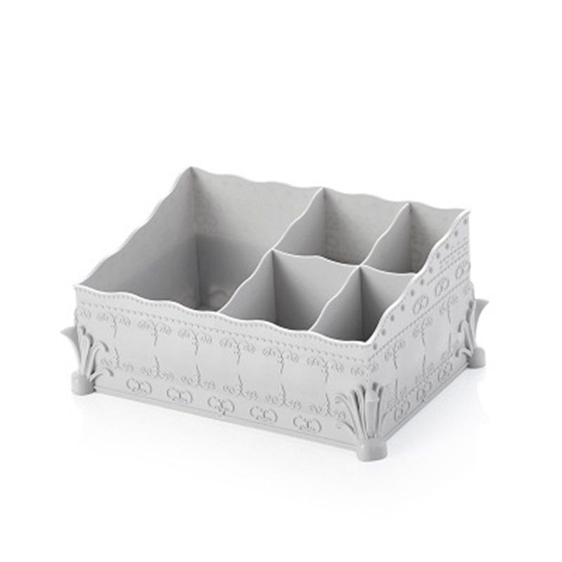New European plastic box creative support remote control desktop storage box cosmetics box organization small object container ...