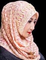 Women turban Muslim Hijabs Silk Hijab caps
