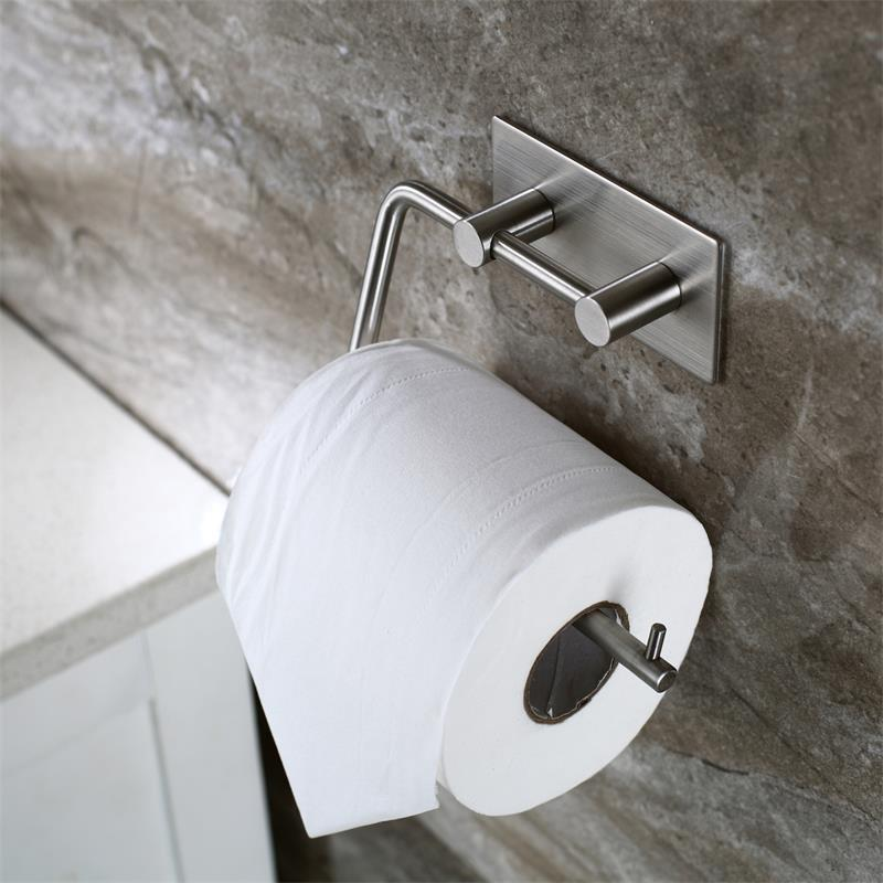 SUS304 stainless steel bathroom Toilet stickup Roll Paper Holder Brushed Stainless Steel