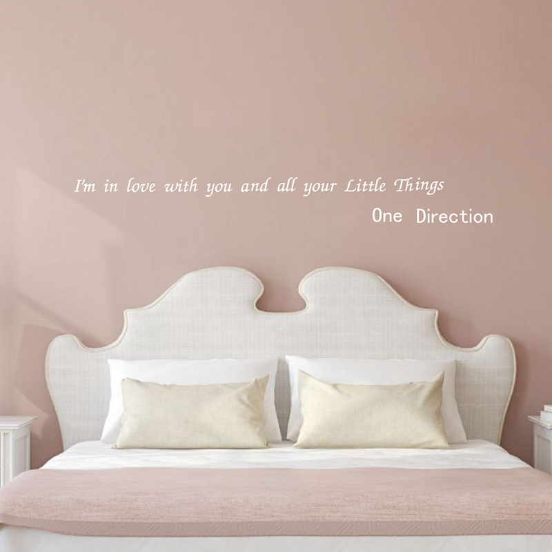 """""""I'm In Love With You..."""" ONE DIRECTION Quotes Vinyl Wall Sticker Famous Saying For Home Bedroom Decoration"""