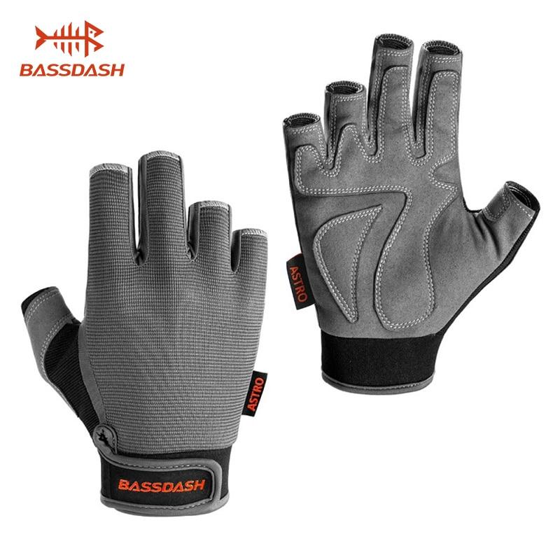 Bassdash Astro Heavy-Duty Sure Grip Fishing Gloves Men's Women's Fingerless Gloves For Game Fishing Kayaking Paddling Sailing