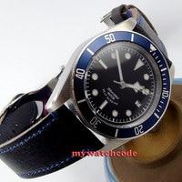 41 мм corgeut черный циферблат сапфир Стекло miyota 8215 автоматические дайвинг часы C16
