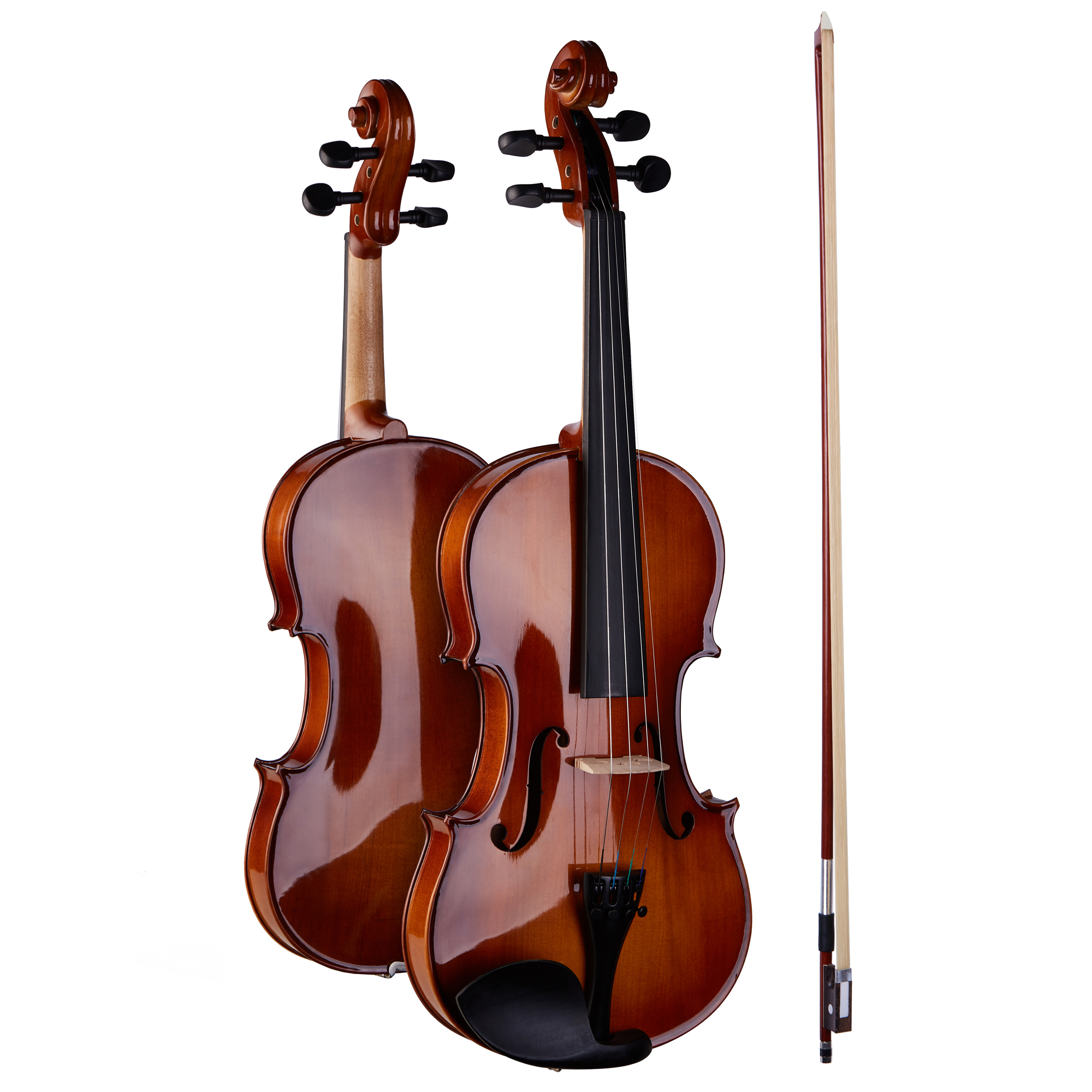 3/4 Violin with Lightweight  Hard Case Maple Back and Sides Hand Carved Full Size Jujube Wood Bow Pinus Bungeana Top kinglos matt acoustic art violin ebony fittings carved flowers stuedents maple violin 4 4 violino fiddle with case bow mute
