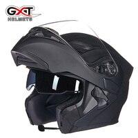 GXT 902 Flip Up Motorcycle Helmet Modular Moto Helmet With Inner Sun Visor Safety Double Lens